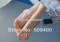 3D real foot fetish pussy silicone feet sex toy 22cm 8.6 inch full silicone feet female feet feet sex with nail on