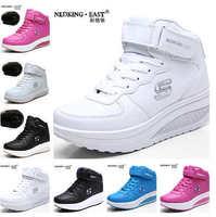 2015 New Add Cotton Keep Warm Tonetm Skylar Shoes Autumn Winter Height Lncreasing Platform Wedge Women Sneakers Shoes X623