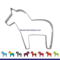 Carousel Horse Unicorn small horse zebra children die cut fruit cookie mold