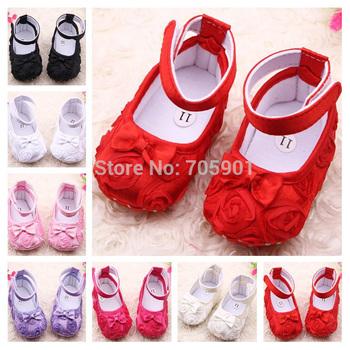 Новый! мода милый ребенок обувь цветок мягкой подошвой милые дети девушка малыша обувь первые ходоки соответствовать 0-12 месяцев ребенок