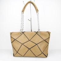 Promotion 2014 New Arrival pu Leather pactwork Women Handbag Shoulder Bag Messenger Bag H090 khaki