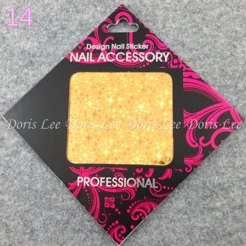 1 Pcs Nail Art Transfer Foils Sticker, Hot Beauty Free Adhesive Nail Polish Wrap, Nail Tips Decorations Accessories (XG-S14)(China (Mainland))
