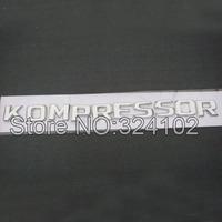 20ps Chrome KOMPRESSOR Plastic Letter 3D Boot Badges Emblem  wholesale