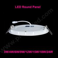 3W 4W 6W 9W 12W 15W 18W 24W LED round panel light free shipping ceiling light warm white/cold white optional panel led light