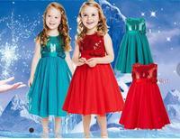 2015 Hot New Summer Children Girls Sleeveless Princess Dress Red Roses Sequined Birthday Party Costume Girls Sundresses Gown
