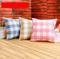 ikea plaid home office cushion cover modern throw pillow case for car canvas fabric