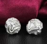OMH wholesale 6pair off 36% = $0.63/pair Fashion Girl 925 Silver Plated Rose Flower Stud Earrings EH279