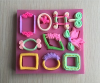 New Arrival Photo Frame And Picture Frame Shape 3D Fondant Cake Lace Mold Tools Bakeware -C443