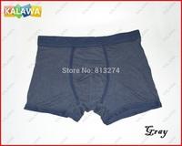 One piece men's underpant Model cotton men's under boxer short  high quality Gray Color Size L NoR Freeshipping ^^KKK