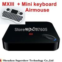 MXIII Amlogic S802 Quadcore Android 4.4.2 TV BOX 4K XBMC Miracast DLNA 1GB RAM 8GB Flash Smart tv box Airmouse keyboard