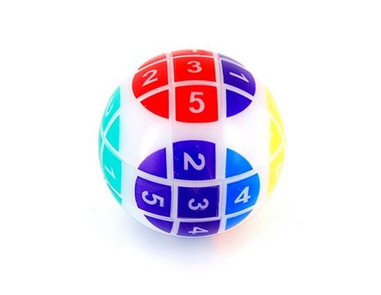 Yakutia Rubik's Cube Puzzle Round Ball Magic Puzzle Toy with Numbers(China (Mainland))