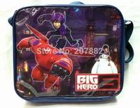 Free Shipping! 120pcs/lot 2015 Fashion Big Hero 6 Baymax Lunch Bag Cartoon Kids Lunchbox Lunch Tote A104 Wholesale