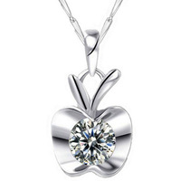 fashion 925 sterling silver AAA wholesale Cubic zircon Luxury pendant necklaces brand cute jewelry for women gifts free shipping