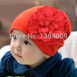 baby children girl Stretch Crochet Flower Hat infant kids caps hats&caps children accessories(China (Mainland))