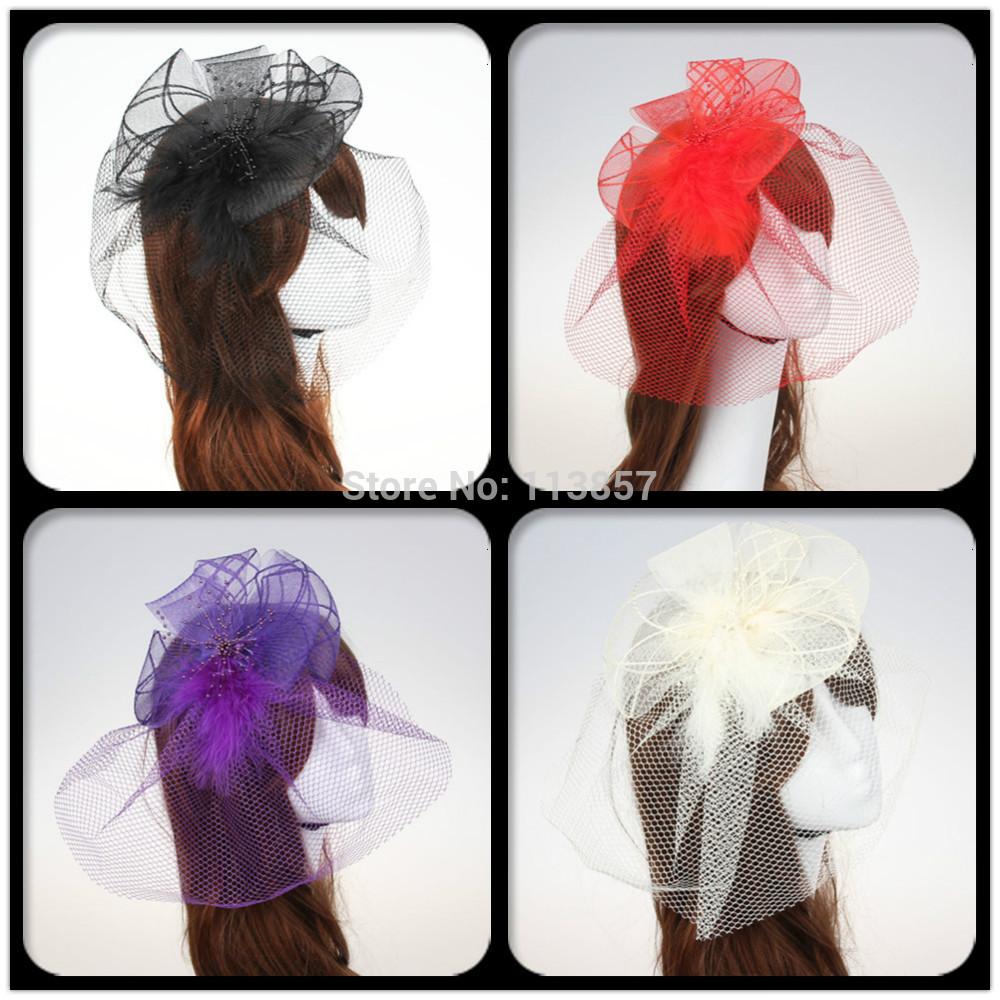 Colorful acrylic feather fascinator headband wedding party newest made headband(China (Mainland))