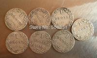 Poland <1835-1841> 7 coins 1 Grosz coins copy Free shipping