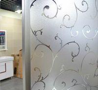 No glue static cling polis Vines flower classic color window glass film sticker bathroom office kitchenwindow width60/45cm*100cm