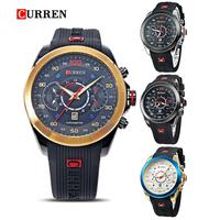 2015 New Relogio Masculino CURREN 8166 Golden Watches men Luxury Brand Waterproof Sport Military Army Dress quartz Wristwatches