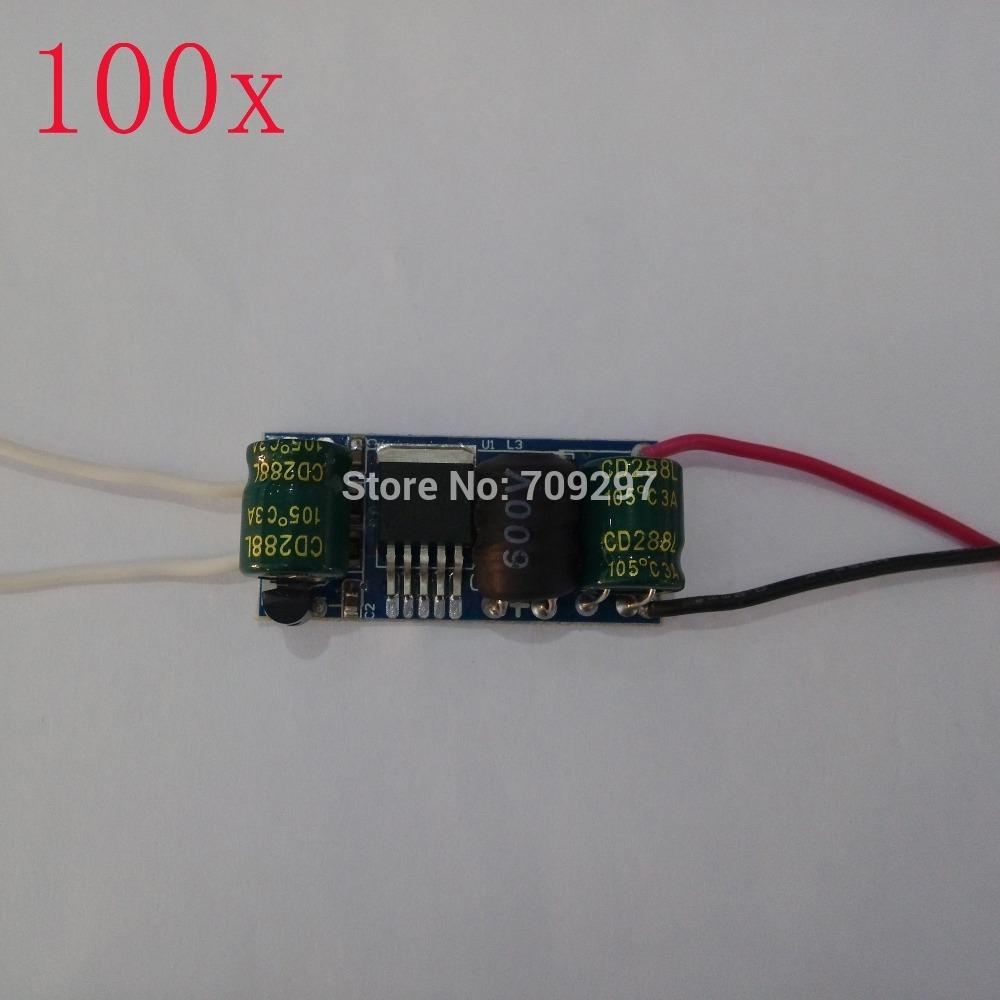 FREE DHL 100pcs/lot Input AC/DC 12V~80V 1~10x1W LED power driver,output 300MA for 1W 2W 3W 4W 5W 6W 7W 8W 9W 10W LED chip D-81(China (Mainland))