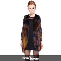 2015 new arrival women fashion fur vest 100% natural raccoon fur vest women fur coat long coat hotsell colorful FREE SHIPPING