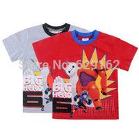 2015 New Big Hero 6 Baby Boy Cotton T-shirt. Kids Baymax Short Sleeve Top Tees. Children Cartoon Summer Clothing. Free shipping
