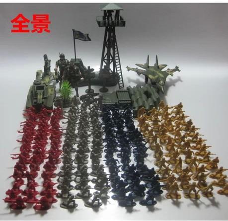 222pcs set wwii oyuncak asker figürleri ordu askeri üsleri modeli