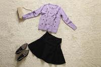 Europe Fashion Clothes Noble Quality sweater  short skirt  set long sleeve new women