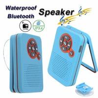 IPX4 Waterproof Speaker Shower Subwoofers Bluetooth Speakers BTS-23 Photo Frame Style Sucker FM Wireless Hands-free for iphone 6