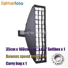 Factory Outlet Photo Studio 14″x63″ Umbrella Rectangle Softbox For SpeedLight/Flash Soft Box Bowens Mount Camera Reflector