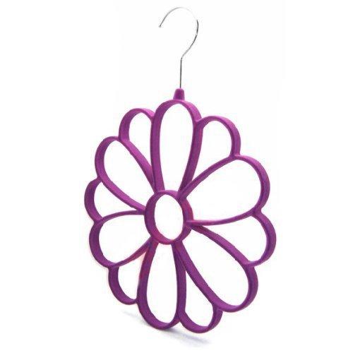Luxury Purple Velvet Flower Shape Scarf Hanger Holder Home Storage Racks(China (Mainland))