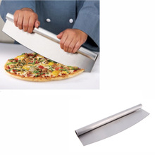 "14"" Professional Baking Tools Kitchen Cooking Accessories Pizza Slicer Bakeware Stainless Steel Pizza Cutter Rocker Knife(China (Mainland))"