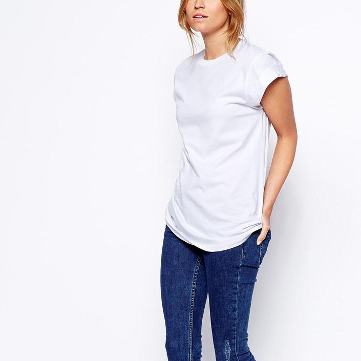 Лето сплошной футболки воротник-хомут короткий рукав базовые футболки женщины топы