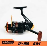Hot  YA5000 12+1BB  Spinning Fishing Reel Metal Carretilha Pesca For Shimano Feeder Fishing  Free Shipping