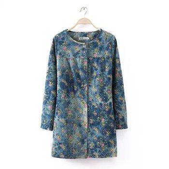 Wb455 # Большой размер XL-4XL мода женщин джинсовые / джинсы рубашка, дамы с длинным рукавом блузка, Blusas Roupas Camisa Feminina