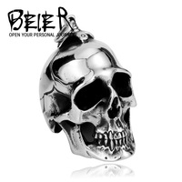 Wholesale 4 Pieces Stainless Steel Huge Big Heavy Metal Skull Pendant Necklace For Man Sons of Anarchy Season Skull  BP8-042