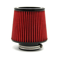 """TIROL T21776a Red Universal Inlet Cold Air Intake Filter Diameter 3""""Pipe Round Tapered PU Material Free Shipping"""