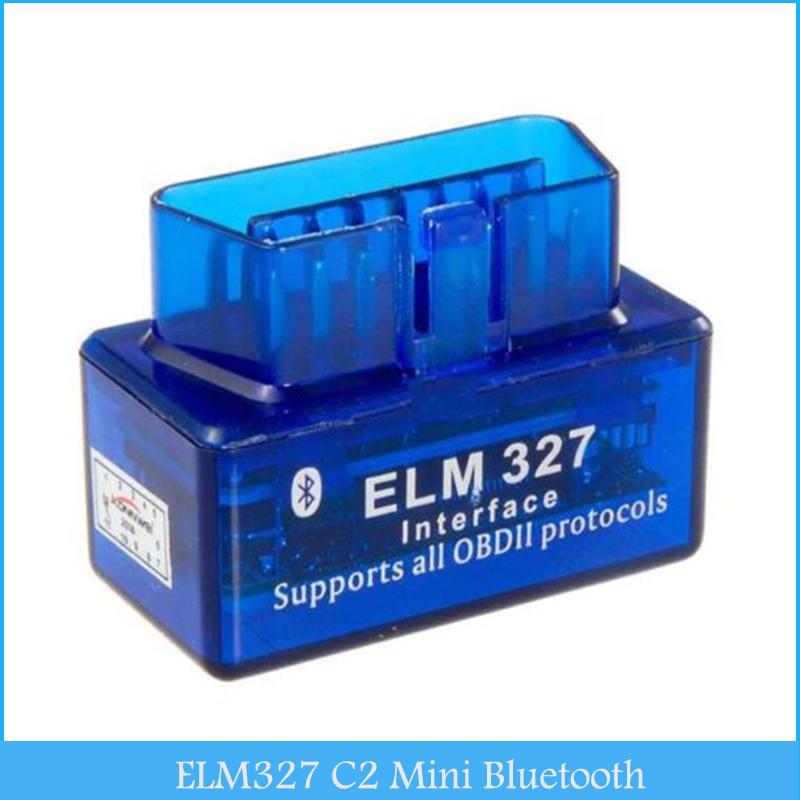 Car Diagnostic Scan Tool OBD2 ELM327 C2 Mini Bluetooth V1.5 Car Diagnostic Tester Trip Computer C286(China (Mainland))
