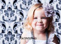 Vintage Baby Flower Headband,Pink flower Chiffon flower Headband