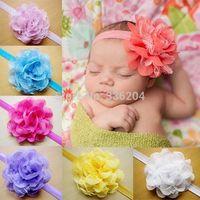 Lace Chiffon Baby Flower Headband,Baby Girl Bow Headband