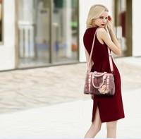 free shipping 2015 ht fur bag bag sell rex rabbit hair fur bags single shoulder portable krest- body bag large capacity