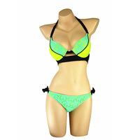 2015 Sexy Lace Bikini Swimwear Fashion Women Summer Patchwork Beachwear Brand Push Up Bathing Suit Bikini Sets