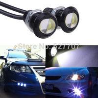 2 Pcs X 3W LED DRL Eagle Eye Light Car Fog Daytime Reverse Parking Signal Lamp White / Red / Blue Lights For Dc 12V