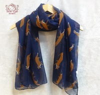 Animal Character Wolf  Print Viscose Shawls And Scarves ,Scarf Women ,Brand Scarf ,Magic Scarf ,Bandana,Poncho