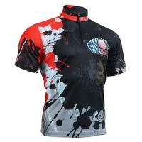 2014 FIXGEAR Men's Casual Stand Collar Short Sleeve Jersey 1/4 Zip up T Shirts S-3XL BM-4402