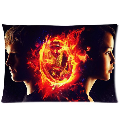 New Fashion Car Cushion Cover Throw Pillow Case Waist Pillow Custom The hunger games main actress Best Gift 20x30 inch 2 sides(China (Mainland))