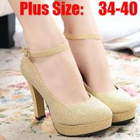 New 2015 Women Tenis High Heeled Shoes PU Moccasins Zapatos Mujer Slip Shose Sapatos Femininos Casual Shoe Gold Woman Shoes