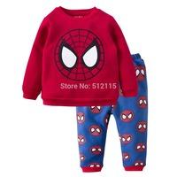 Brand New Boys Spider-man Cartoon Pajamas,Kids Pijamas,Children Animal Pyjamas,Children's PJS for 2-7yrs Winter Fleece Sleepwear