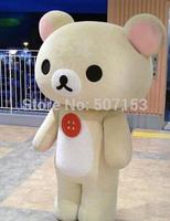 New adult Cartoon Mascot Rilakkuma Mascot Costume Korirrakuma Dress Bear Mascot Free shipping