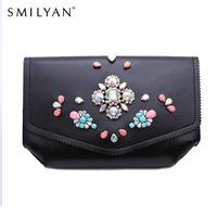 Smilyan women messenger bags chain clutch vintage coin purses wallet bag shoulder bags handbags famous brands bolsas femininas