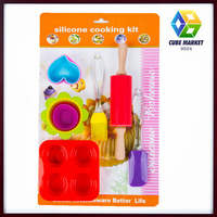 Kitchen Silicone Bakeware Sets Cooking Bakeware Accessories Silicone spatula, Brush, rolling pin,Silicone,cake molds